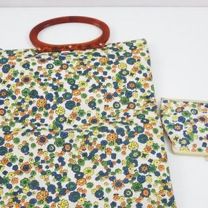 3 for $10 Sale Vintage 1960s Floral Purse & Wallet